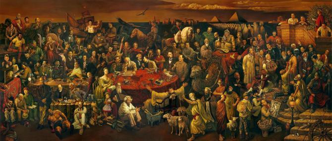 Discussing the Divine Comedy with Dante by Dai Dudu, Li Tiezi, Zhang An, 2006